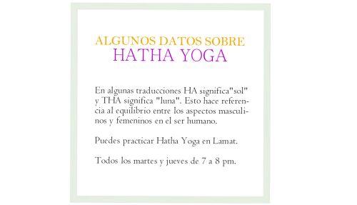 Datos Hatha Yoga blog